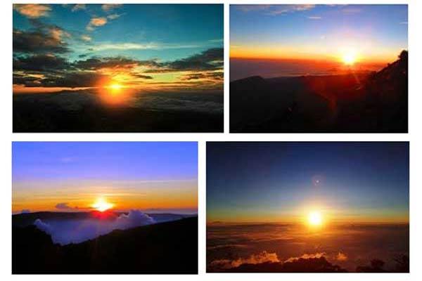 Gunung dengan Pemandangan Sunrise